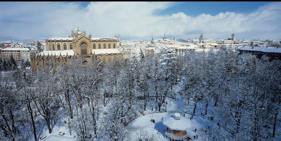Nieva en Vitoria -Gasteiz