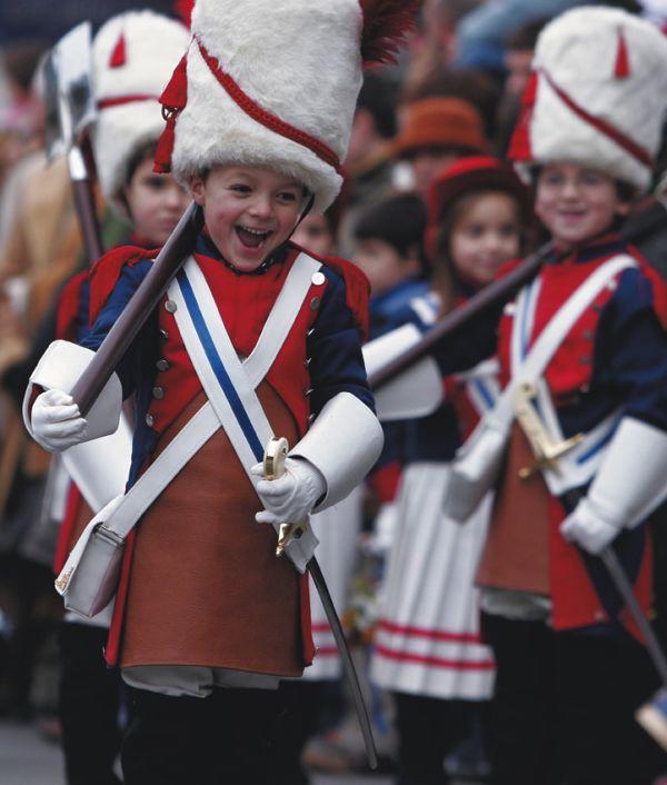 Tamborrada infantil. El 20 de enero en Donostia, día de San Sebastián. Turismo. Euskadi. Basque Country. San Sebastián. Donostia, Tamborrada